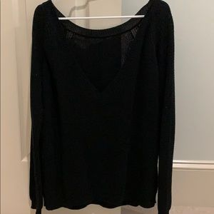 Lulus Just For You Black Backless Sweater